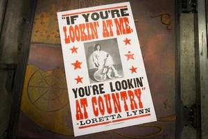 loretta lynn hatch show print poster