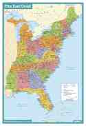 East Coast Usa Wall Map Maps Com Com