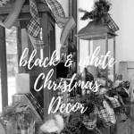 Black White Christmas Decorations Trendy Tree