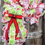 Deco Mesh Candy Cane Wreath Trendy Tree