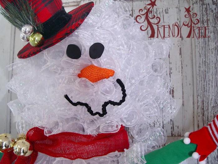 snowman wreath tutorial trendy tree