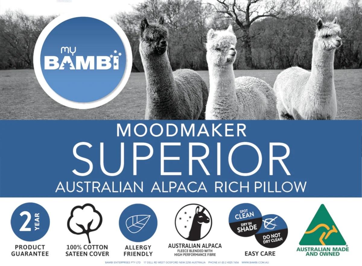 bambi moodmaker superior alpaca rich pillow
