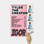 Album Cover Poster Print Wall Art A3 Igor Tyler The Creator Custom Poster