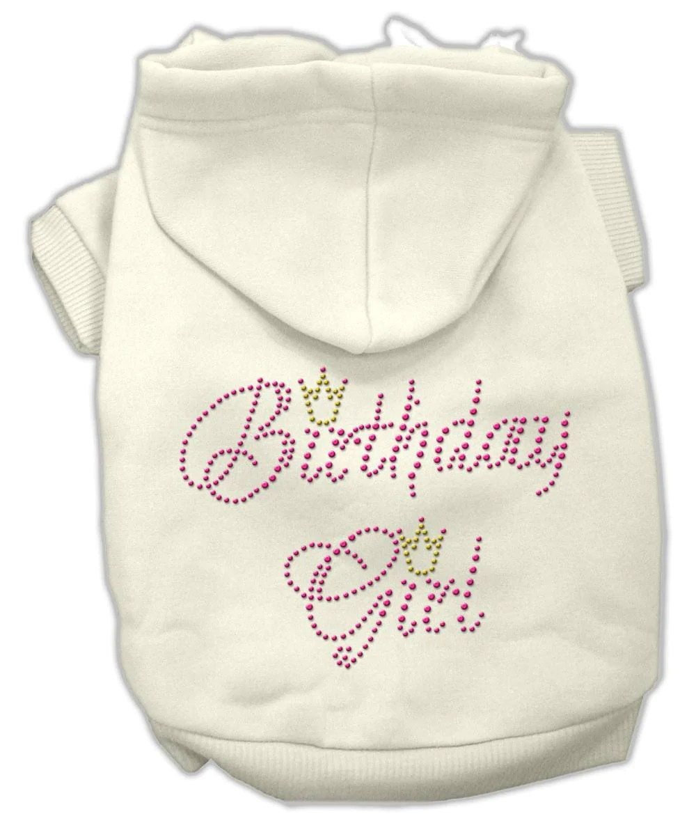 Mirage Birthday Girl Rhinestone Dog Hoodies 4 Paws Pet