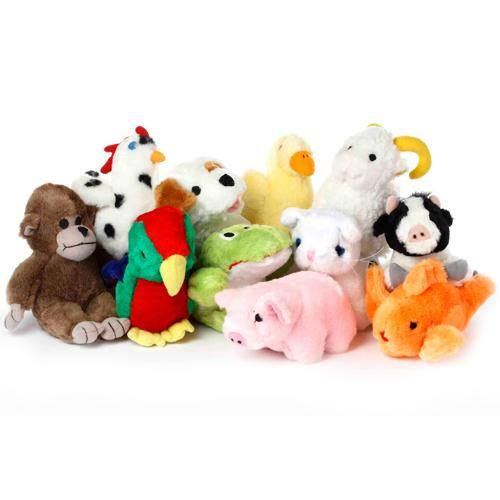 Multipet Look Whos Talking Plush Dog Toys 4 Paws Pet
