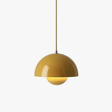 Lampe suspendue minimaliste pour chambre à coucher, table de chevet, salle à manger, salle à manger, style post-moderne, lampe couleur bourgeon (gris)