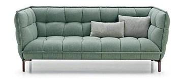 HONGSHENG Simple Tissu De Style Moderne Canapé Villa Club De Loisirs Petit Appartement Double Salon/Trois Personnes Canapé en Bois Massif,Double