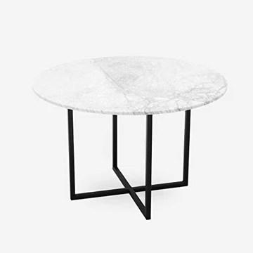 Table à manger ronde en marbre – Blanc – 120 cm