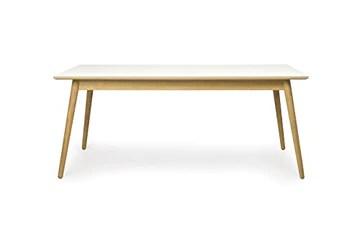 Tenzo Dot Designer Table à Manger rectangulaire, HPL Blanc/Chêne, 180 x 90 x 75 cm
