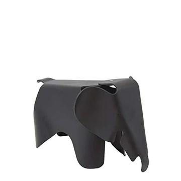 Vaukura Tabouret Elephant - Tabouret Enfant Inspiration Eames Elephant (Plusieurs Couleurs) Noir