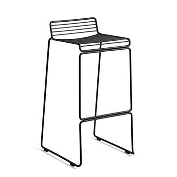 mds La Chaise Haute HEE par Hay VIT Aussi Bien Indoor qu'outdoor - Noir - Hauteur d'assise 65 cm