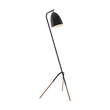 EGLO 49945 Lampe sur Pied, Acier, 60 W, Schwarz, Kupfer