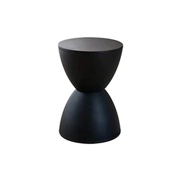 GE&YOBBY Tabouret en Plastique Moderne,Tabouret Simple Chaussures créatives Tabouret Table Basse Forme de sablier-Noir 30x43cm(12x17inch)