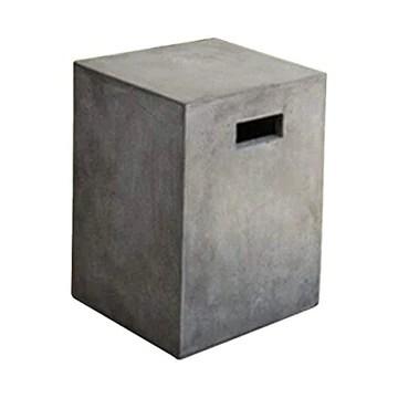 MATHI DESIGN Beton - Tabouret Cube en béton Gris