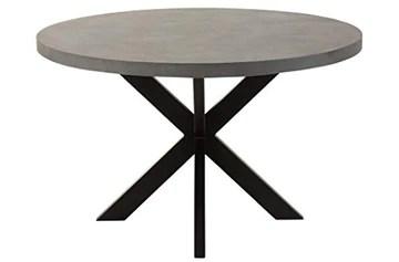 J-line Table OLI Ronde Ciment/Aluminium Gris/Noir 126x126x24cm JLINE 1740