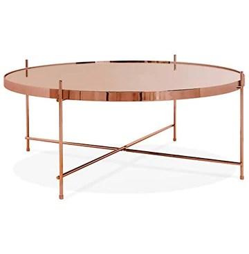 Alterego Table Basse de Salon 'Kolos BIG' Couleur cuivre