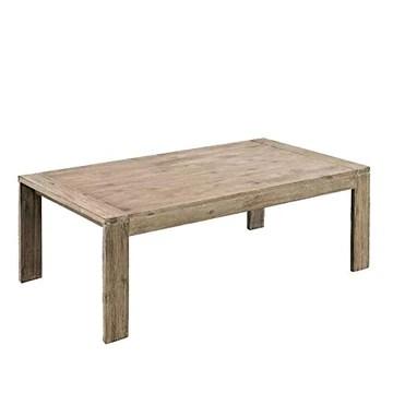 EBTOOLS Table basse laquée élégante en bois d'acacia massif avec finition brossée 110 x 60 x 40 cm