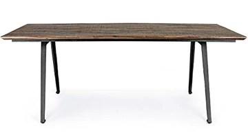 PEGANE Table à Manger/Table Repas en Bois recyclé Coloris Marron - L.200 x P.90 x H.76 cm