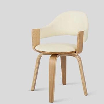 Chaise en bois massif Fauteuil pivotant Fauteuil d'ordinateur Idées de mode Fauteuil d'accueil décontracté Fauteuil de bureau simple Chaises
