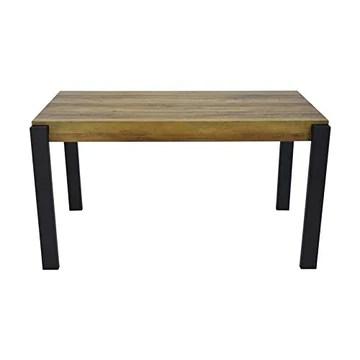 ZONS Table de Salle à Manger 4 à 6 Personnes, Bois et Noir,