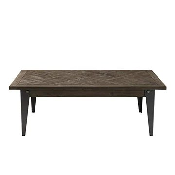 MACABANE DALIE Table, Sapin, Noir, 120X66X41