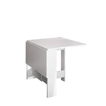 Table Pliante Contemporain avec 2 Abattants Blanc 103 x 76 x 73,4 cm, 2050A2100X00