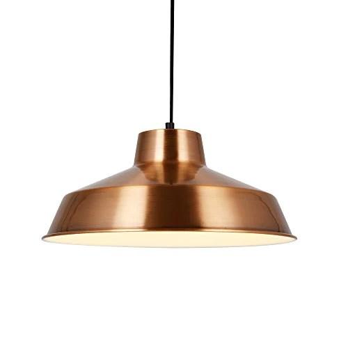 [lux.pro] Lampe à Suspension Design Lampe de Plafond Couleur Cuivre et Blanc Métal [Ø35cm] Luminaire Suspendu en Métal E27