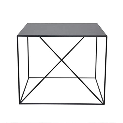 canape side table salon fer art petite table carree bureau salle de reunion decoration table basse chambre table de nuit color black