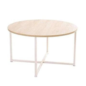 YXB Canapé Côté Armoire Simple Table Basse Salon Ronde Table À Thé en Fer Forgé Petit Appartement Côté Plusieurs Moderne Minimaliste Creative Table d'appoint (Taille: 80x44.8cm)
