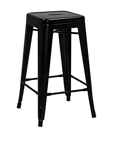 Lo + deModa Hight Ural H66 B & W – Tabouret, Noir
