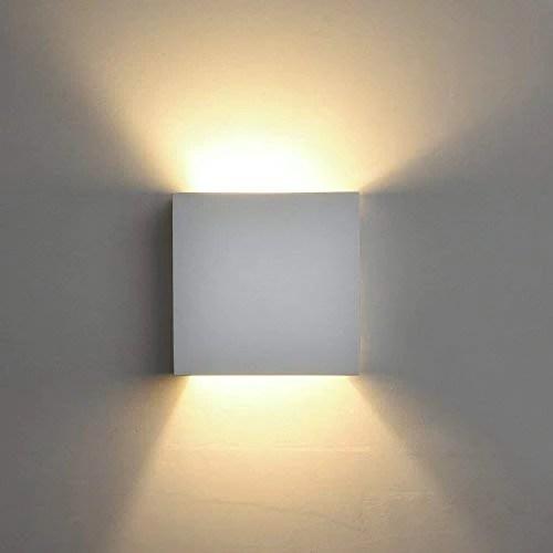 deckey appliques murales en platre 3 8 w lampe simple blanche avec ampoule de plug in g9 lumineux applique interieur et exterieur pour chambre