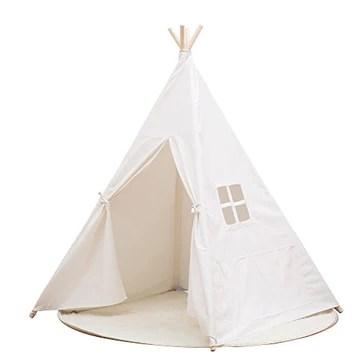 Small boy-100%Coton Tente Indienne de Jouet pour Enfants avec Fenêtre Dimensions:120 * 120 * 145cm