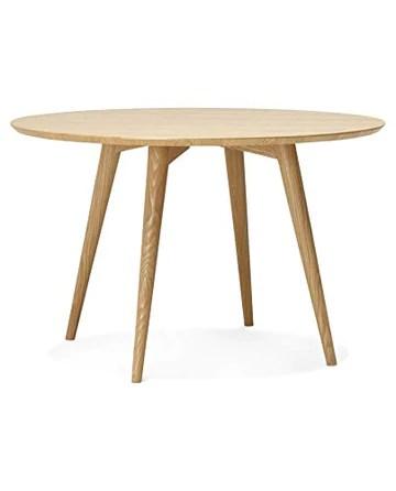 Kokoon Janet Table à Diner Design en en, Bois, Beige, 120x120x75 cm