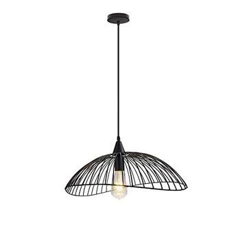 COCNI Moderne Minimaliste Lustre Industriel Métal Chapeau de Paille Mesh Lampe de Plafond en Fer forgé Pendentif Luminaire Îlot de Cuisine Chambre Salon d'économie d'énergie Lampe Suspendue