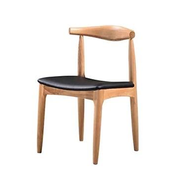 BYTGK Chaise de salle à manger Tulip avec pieds rembourrés en bois massif naturel et design contemporain (Color : BLACK)