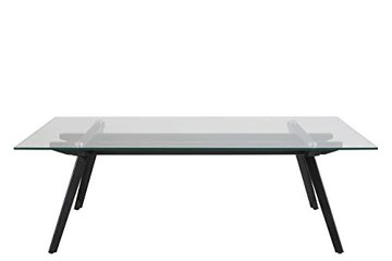 Marque Amazon - Movian Moiry - Table basse en verre trempé, 60 x 120 x 40 cm