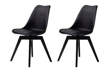 tenzo 3317-824 BESS Designer Lot de 2 chaises, Noir, Bouleau, 83 x 48,5 x 54 cm (HxLxP)