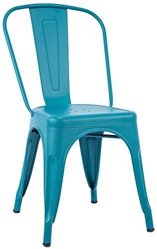 Chaise de Salle à Manger loft, Chaise empilable en métal pour Fauteuil Chaise de Bar à café Chaise de décoration pour la Maison 4585 cm, Acier