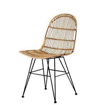 animal-design Vivi (60003) Chaise en Osier tressée Design Moderne Salle à Manger Cuisine Bistro Balcon Terrasse
