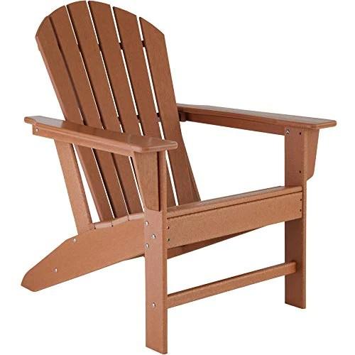 TecTake 800814 Chaise de Jardin Extérieur Design Adirondack Forme Ergonomique Résistant aux Intempéries Charge Max. 120 Kg – Diverses Couleurs (Marron)