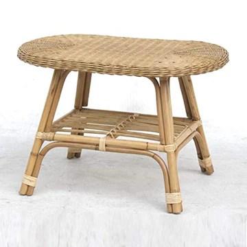 DECOCLICO Table Basse Ovale rotin Naturel