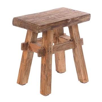 DESIGN DELIGHTS Tabouret en bois rustique vintage 40
