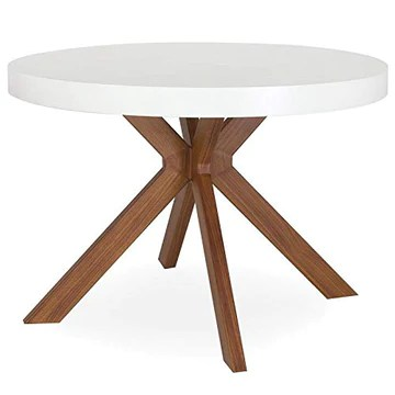 Paris Prix - Table Ronde Extensible zefane 160-260cm Blanc