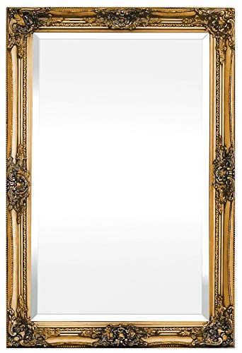 Rococo by Casa Chic - Grand Miroir Rectangulaire - Style Baroque Shabby Chic - 90x60 cm - Or