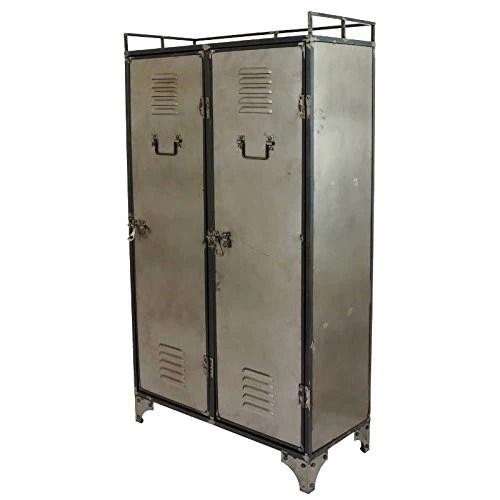 chemin de campagne bibliotheque industriel bahut armoire metal buffet meuble fer