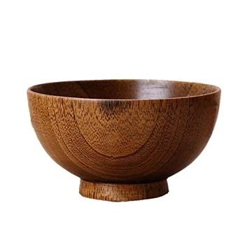 SODIAL Bols en Bois Bol en Bois Bol Alimentaire sain Recipient Vintage Vaisselle Vaisselle Accessoires de Cuisine