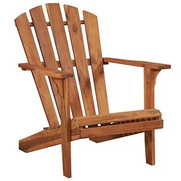Festnight Chaise de Jardin Chaise d'Extérieur Adirondack Bois d'Acacia Massif pour Jardin ou Terrasse 69,5 x 87 x 91 cm Marron