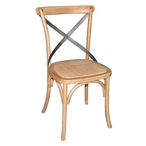 Boléro gg656 Chaises de salle à manger avec dossier en bois, naturel (Lot de 2)