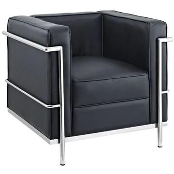 AG Charles Le Corbusier LC2 Petit Confort Fauteuil Noir 76 cm