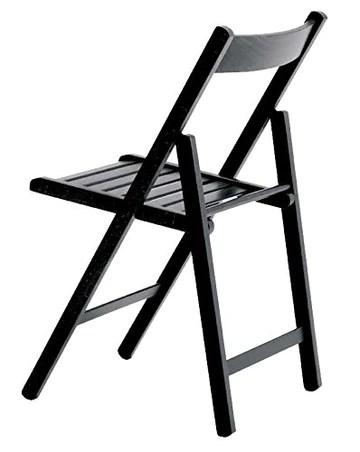 Mueblear 19021 Chaise Pliante Bas Bois Wengé 43 x 46 x 79 cm